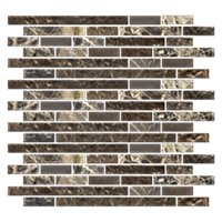 Australia Canberra Stria with Glass Stone Mosaic Tile - 12 x 12 in.