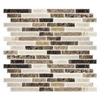 Vashon Island Mix Stria Stone Mosaic Tile - 12 x 12 in.