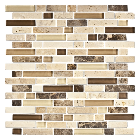 West Hampton Blend Stone Mosaic Tile - 12 x 12 in.