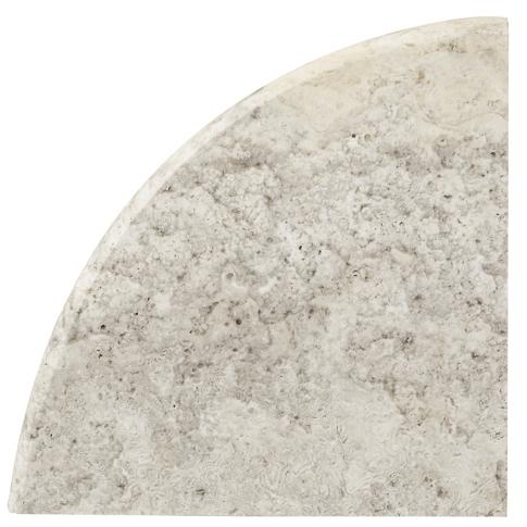 Claros Silver Honed Flat Corner